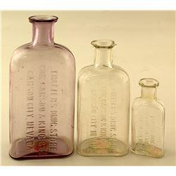 Thaxter's Drug Store Bottles, Three Different