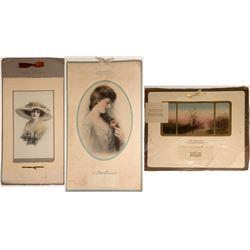 Three A.W. Kenison Co. Calendars: 1914, 1915, 1919