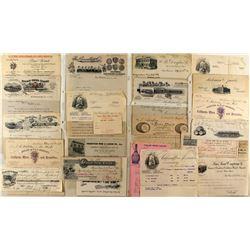 Wine Letterhead and Billhead Collection