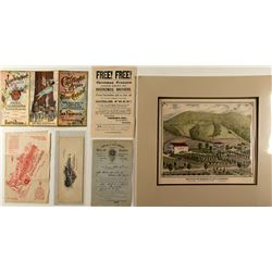 Wine Hand Bills and Illustration, c1890