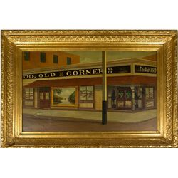 Oil Painting of The Old Corner Saloon