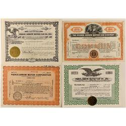 Pierce-Arrow Motor Car Co. Stock Certificates