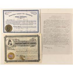 American Liquid Air Stock Certificates