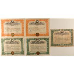 Belmont Motors Corporation Stock Certificates