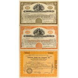 American Austin Car Company Inc. Stock Certificates
