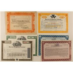 Automobile Stock Certificates Variety