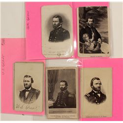 Five CDVs of President Ulysses S. Grant