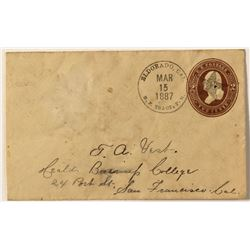 Eldorado Cover with Postmaster Name