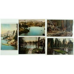 Five Hand-colored Fallen Leaf Lake Postcards