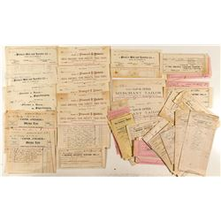 San Rafael 1890s Billhead Collection