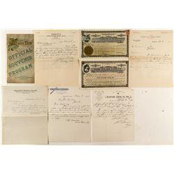 Tulare County Ephemera (Stocks, Letterheads, Program)