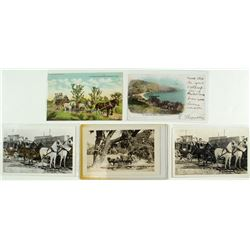 5 Stagecoach Postcards