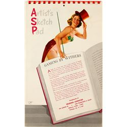 1955 Pin-Up Calendar with Ted Withers Color Paintings