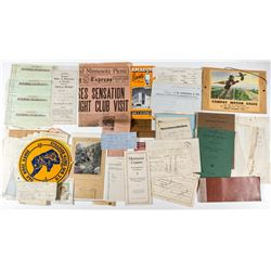 California Ephemera Collection (Gold Bar Receipts, Fraternal, Checks, Etc.)