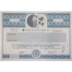 Equitec Financial Group, Inc. Specimen Stock Certificate