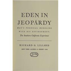 """""""Eden in Jeopardy,"""" by Richard G. Lillard"""