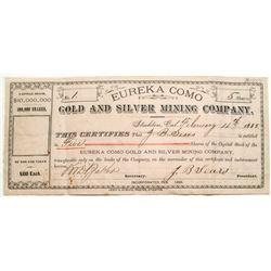 CDMG Stock Certificate Number 1