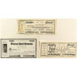 California Hotel Stock Certificates