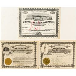 Northern California Stock Certificates with Great Vignettes