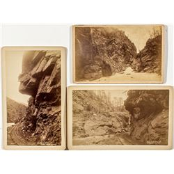 Three historic Clear Creek Photographs, 2 Railroad Related