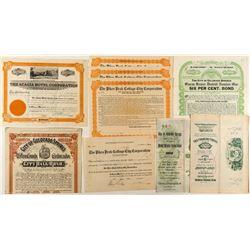 Colorado Springs Non-Mining Bonds & Stock Certificates