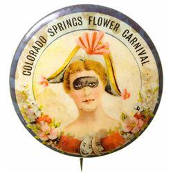 Colorado Springs Flower Carnival Souvenir Button