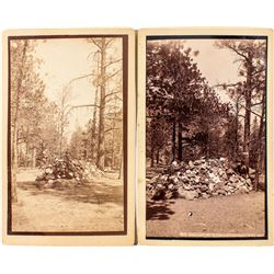 Two photographs of Mrs. H. H. Jackson's Burial Place on Cheyenne Mountain