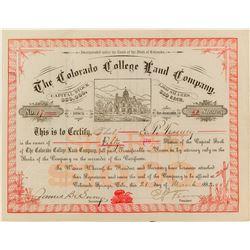 The Colorado College Land Company Stock Certificate