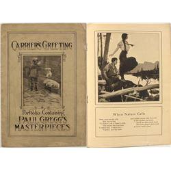 """Carrier's Greeting: Portfolio Containing Paul Gregg's Masterpieces"""