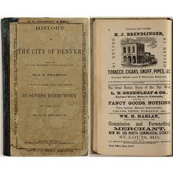 Senator H.M. Teller's Personal Copy of a Reprinted 1866 Denver Directory