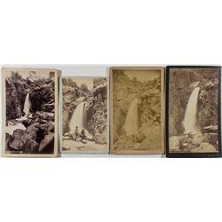 Four Different Rainbow Falls, Ute Pass 1800's Photographs