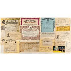 Colorado Ephemera (Billheads, Railroad, Liquor Licenses)