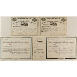 Colorado Wagon and Toll Road Stock Certificates
