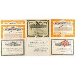 Colorado Banking Stock Certificates (7)
