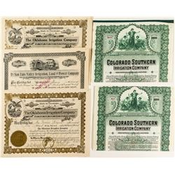 Colorado Irrigation Company Bonds & Stock Certificates
