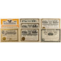 Colorado Non-Mining Stock Certificates