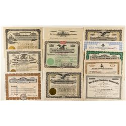 Miscellaneous Colorado Non-Mining Stock Certificates