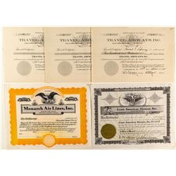 Colorado Airline Stock Certificates