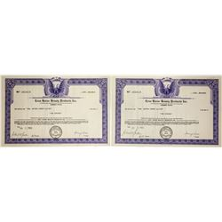Lena Horne Beauty Products Inc. Stock Certificates (2)