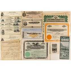 Idaho Ephemera (Checks, Letterheads, Stocks)