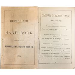 1892 Democratic Hand Book