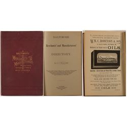 Baltimore Merchants and Manufacturers Directory with Compliments to Trade of West Virginia