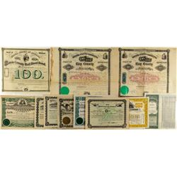 Michigan Non-Mining Bonds & Stock Certificate Collection