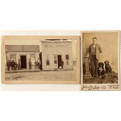 Two Cabinet Cards by Berkin of Boulder, Montana, c.1890