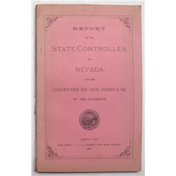 Report of the State Controller of Nevada Book, 1883