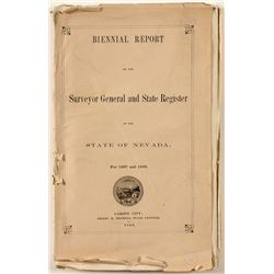 Biennial Report for Nevada Surveyor General and State Register 1869