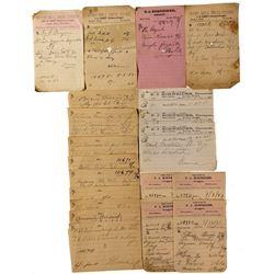 Ruby Hill Drugstore and Druggist F. J. Schneider Prescription Records