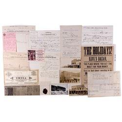 Eureka Collection (18): postcards, tax documents, stocks