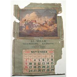 Al Mills, Blacksmith and Auto Repair 1928 Calendar