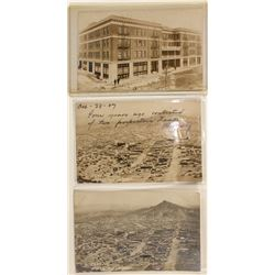 Three Goldfield Real Photo Postcards